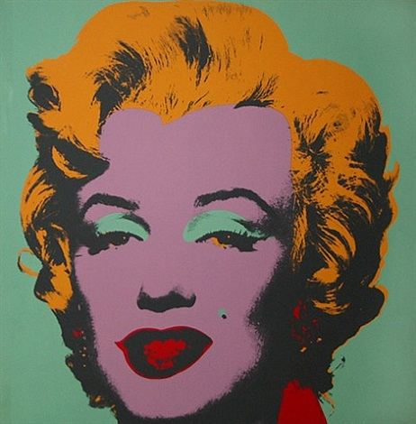marilyn monroe, ii.23 aqua green marilyn by andy warhol