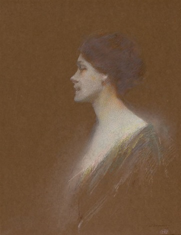 portrait of a woman by thomas wilmer dewing