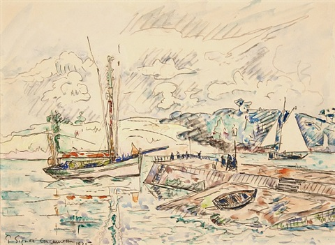 concarneau by paul signac