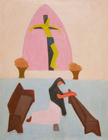 crucifixion by milton avery