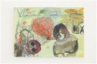 untitled d (bassam ramlawi paintings) by mounira al solh