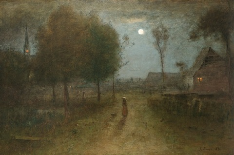 nine o'clock by george inness
