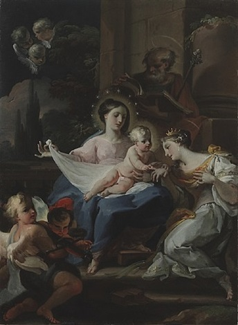 mystic marriage of st. cantherine of alexandria by corrado giaquinto