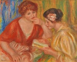 la lecture by pierre-auguste renoir