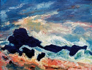rocks and storm by albert houthuesen