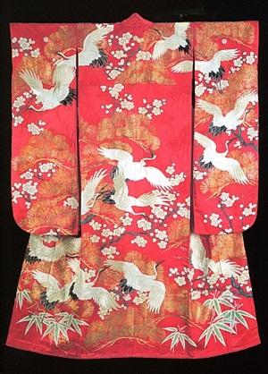 woman's formal kimono