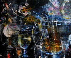night painting (whiskey) by catherine howe