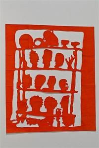 regal mit masken (shelf with mask) by ulla von brandenburg