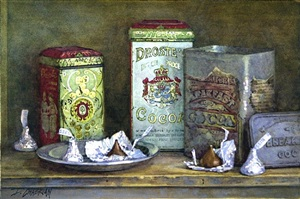 chocolate tins (sold) by deborah l. chabrian