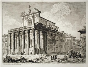 the temple of antoninus and faustina (3rd state) by giovanni battista piranesi