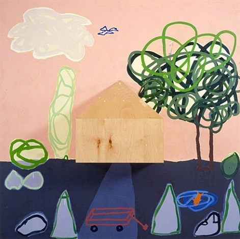 bush, house, tree by jennifer bartlett