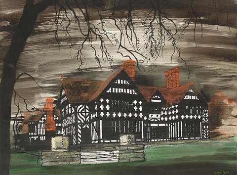 wightwick manor, wolverhampton by john piper
