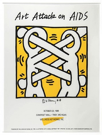 art attack on aids by keith haring