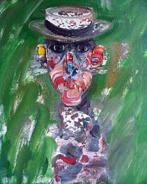 man with hat #172 by robert beauchamp