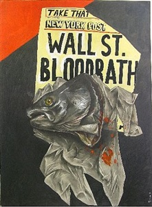 wall street bloodbath by sue coe