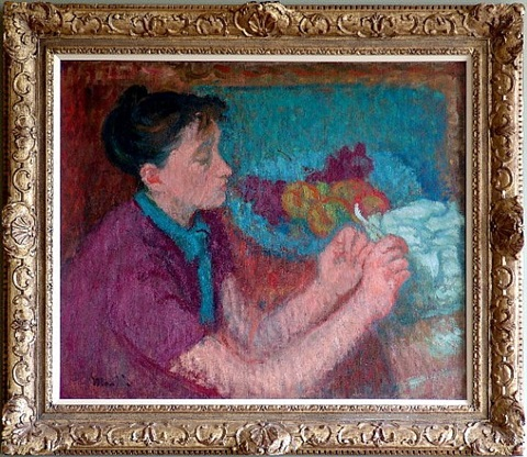 portrait of mary martin, the artist's wife by kenneth martin