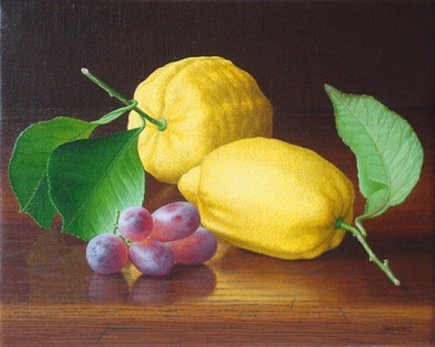 lemons and grapes by christine bigmore