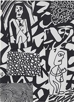 situation xxvii (d 54), may 21 by jean dubuffet