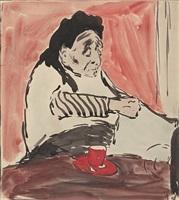 la grandmere de l'artiste, 10 rue miromesnil by edouard vuillard