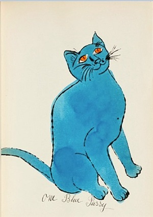 one blue pussy, from <i>25 cats named sam and one blue pussy</i> by andy warhol