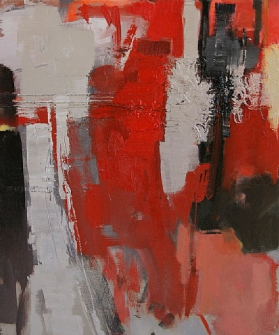 variation-red on gray by francis livingston