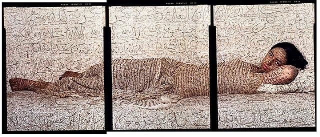 les femmes du maroc: reclining odalisque by lalla essaydi