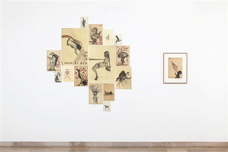 installation view: auf papier 2012, works by sandra vásquez de la horra