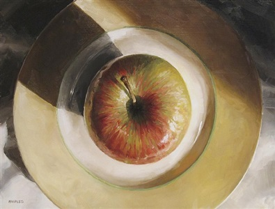 sunlit apple (sold) by michael naples