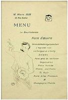 la bouillabaisse, menu sescau by henri de toulouse-lautrec