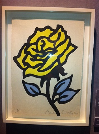 yellow rose by donald baechler