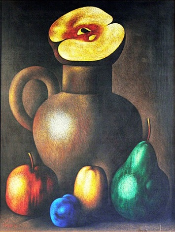 jar and fruits by roman kriheli