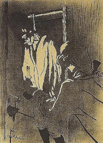 le pendu (premiere planche) by henri de toulouse-lautrec