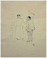 le premier vendeur de jourdan et brown by henri de toulouse-lautrec