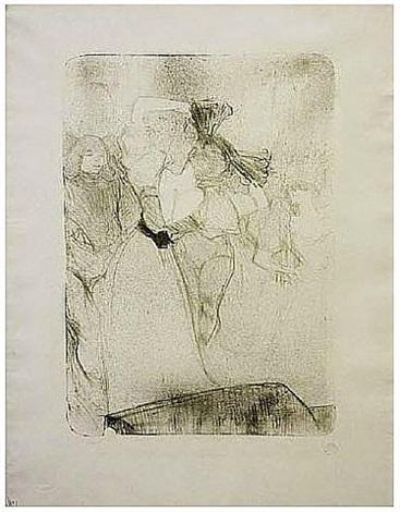 lender de dos, dansant le bolero dans chilperic by henri de toulouse-lautrec