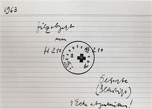 untitled index card (#33, felt object) by joseph beuys