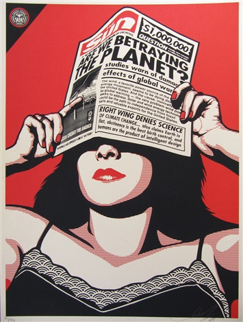 global warning by shepard fairey