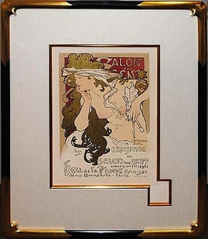 salon de cents by alphonse mucha
