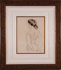 la femme du dos (woman from the back) by paul césar helleu
