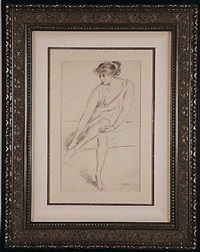 jeune femme assise (young woman seated) by paul césar helleu