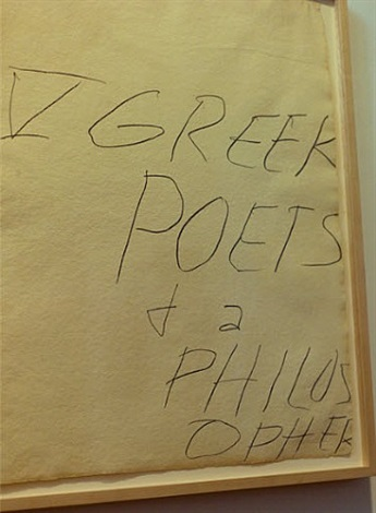 five greek poets and a philosopher by cy twombly