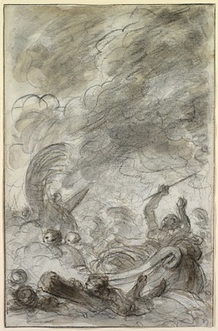 alcina flees after being worsted in naval combat by jean honoré fragonard