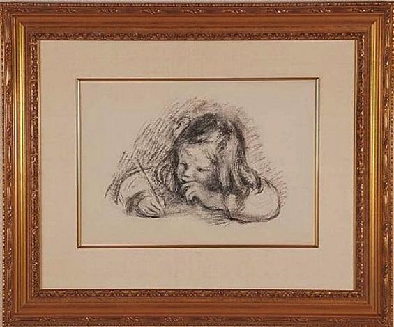 le petit garcon au porte-plume by pierre-auguste renoir