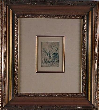le chapeau epingle (la fille de berthe morisot et sa cousine), 1st plate by pierre-auguste renoir