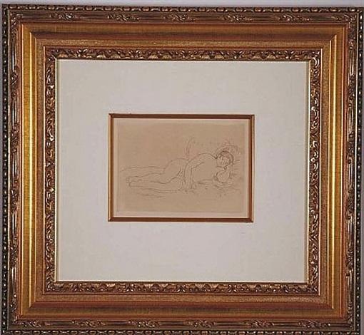 femme nue couchee, tournee a droite, 1st plate by pierre-auguste renoir
