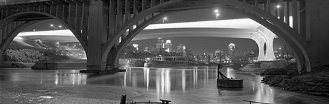 through the frankin avenue and 35w bridges, minneapolis, minnesota by chris faust