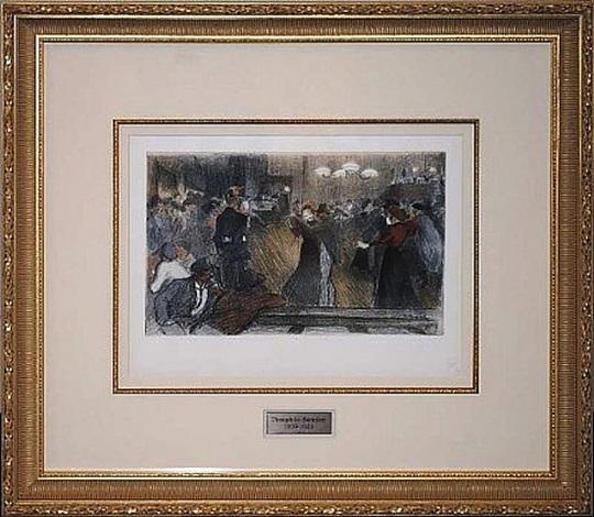 bal de barriere by théophile alexandre steinlen