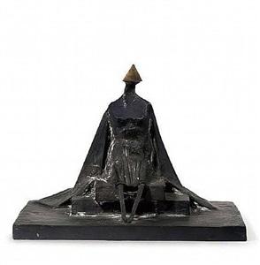 sitting woman in robes iii by lynn chadwick