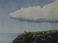 meditor bajo nube by tomás sánchez