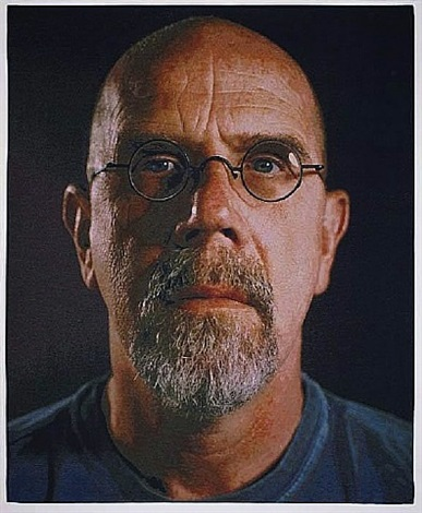 self-portrait / color by chuck close