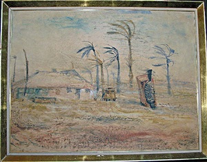 dust storm—lake harry station by william leonard lloyd annois